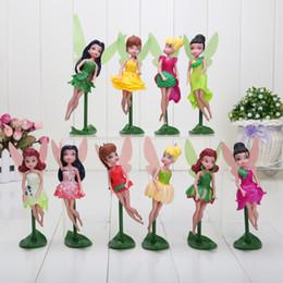 2017 muñecas de la muchacha 13 ~ 16cm Tinkerbell hadas muñecas Tinker Bell PVC figuras de juguetes para niños niñas juguetes regalos muñecas de la muchacha limpiar