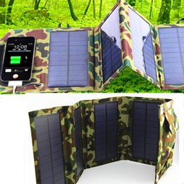 Wholesale Portable solar charger w mAh outdoor portable solar panel charger usb battery charging for phone Power Bank computer