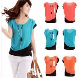 2014 Spring   Summer Fashion Chiffon Shirt Women casual Short Sleeve Round Neck Blouse