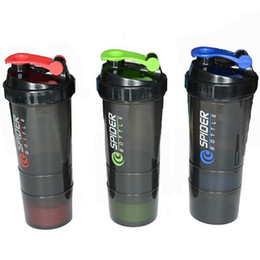 Wholesale BPA free Protein Power Shaker ML Spider Protein Shaker In Sports Water YogaBottle With Inserted Mixing Ball