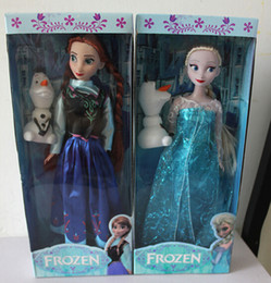Wholesale 11 inch Frozen Musical Dolls Anna and Princess Elsa with Olaf with music quot let it go quot Best Music Toys For kids baby girls DHL EMS Free