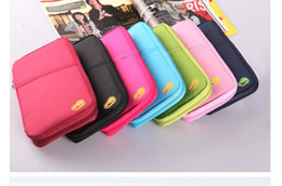 Wholesale 8colors New Passport Holder Organizer Wallet multifunctional document package candy travel wallet portable purse business card holder LB1