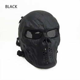 New Item Low Carbon Steel Mesh Mask for Tactical Game with Good Quality black green tan CL9-0058