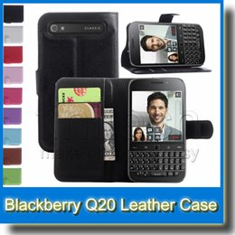 For Blackberry Classic Q20 Folio Stand Flip PU Leather Wallet Card Holder Case Cover