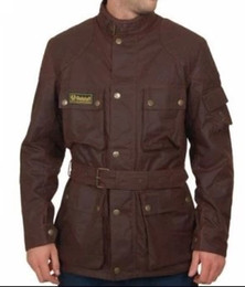 Descuento chaquetas de los hombres de cera Fall-2016 Nueva chaqueta populares engrosamiento marrón modelo europeo de sexo masculino mayor de la manera de recubrimiento se ha acortado la chaqueta de los hombres