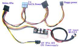 Wholesale 180W V DC ITX PC ATX PSU Supplie mini Car Auto Mirco Pico ATOM HTPC U rackmount PC ATX Pin switch power supply