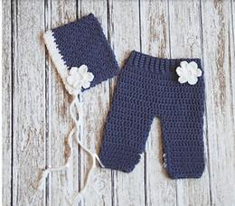 Wholesale Baby Girls Boy Newborn Knit Crochet Photo Prop Outfits H