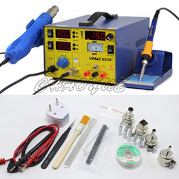 YIHUA 853D+ 3A 3 In 1 Hot Air Solder Rework Station Heat Gun + Soldering Iron + 15V 1 A Regulated Power Supply With Free Gifts
