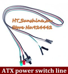 Wholesale Computer Power Reset Switch - Free shipping computer ATX chassis Switching power supply line reset cable order<$18no track