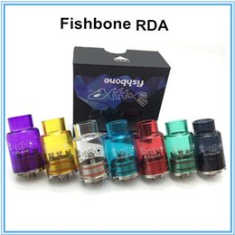 Fishbone RDA 22mm diameter rebuildable dripping E Cigarettes atomizer with Glass Tube Drip tip Fit tugboat V2 Box Mod