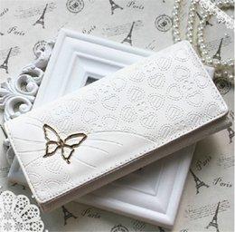 Wholesale Butterfly Clutch Checkbook Purse Money Clips Change Bag Women s Handbag Wallet