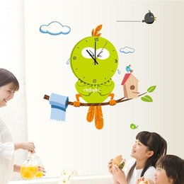 Wholesale Wall stickers home decoration MFS fair Bird funny wall stickers creative stickers room decor watches