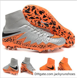 Wholesale Fast delivery Nike Hypervenom II Phantom Premium FG Boots soccer shoes discount prices Nike soccer Boots High Cut Sock Boots