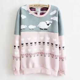 Women Sweatshirt 2015 New Fashion Color Stripes Print Round Neck Long Sleeve Sweatshirt Women Casual Tops