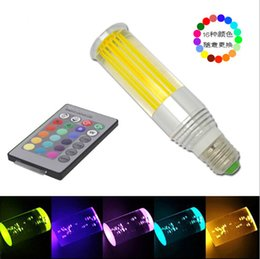 Wholesale 3W RGB crystal column light with hat and infrared remote control middle pillar lamp Colorful led remote control lights AC85 V