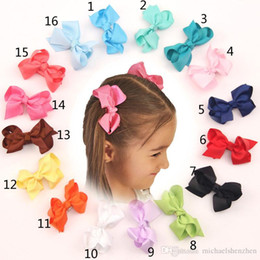16 Color children lovely bowknot hairpin 2015 new fashion princess girl Candy color hairpin children Hair Accessories B