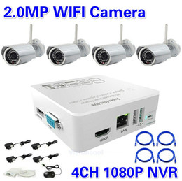Best price! HD 4CH NVR Kit 1080P with 4ch 2.0 Megapixel IR Wifi Mini IP Camera Onvif CCTV NVR System Wifi Wireless IP Camera Kit