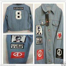 Wholesale-G-Dragon Shirt Bigbang GD TextileCoup Shirts Denim Jeans GD Coat Jacket Coup D'etat