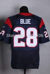 Wholesale Factory Outlet New Alfred Blue Elite Jersey New Authentic Stitched Elite Football Jerseys Top Quality Mix Order