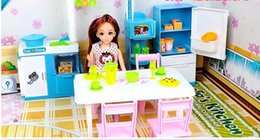 Wholesale-Toys for girls doll toys doll scene model toys dream kitchen birthday gift