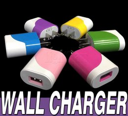 2016 hot iphone 6s plus Galaxy S6 Edge Universal Colorful 5V 1A USA Plug AC Power Adapter USB Wall Charger For iPhone 6 Samsung Galaxy S7