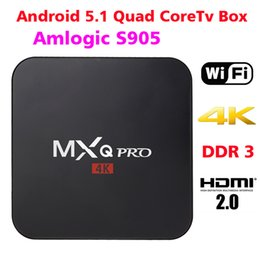 Wholesale MXQ Pro Android TV Box Amlogic S905 Streaming Media Player Quad Core Android G wifi MXQ pro K Box TV Kodi Fully Loaded