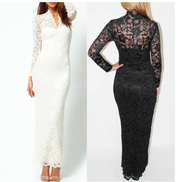 Womens clothing ladies Lace Embroidery maxi long shift pencil Dress Formal Prom Cocktail Ball Evening Party sexy plus big size Dress 6916