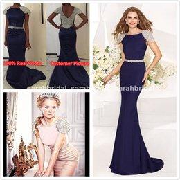 Wholesale Cheap Bridesmaid Dresses Crystals Custom Made Arabic Celebrity Carpet Wedding Evening Gowns Vestidos Para Tarik Ediz Formal Prom Wear