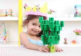 Wholesale The bullet plastic to hold assembled educational baby initiation toy building blocks of children s intelligence