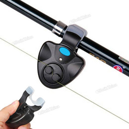 Wholesale Electronic Fishing Rod LED Light Bell Clip Fish Bite Alarm Tool with Sound light Alarm Device FHG_009