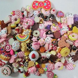 Wholesale Pieces Resin Food Cartoon Movie Characters Artificial Food Cake Cabochons Cameos Jewelry Finding