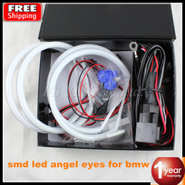 Wholesale 5sets Ultra bright mm SMD LED Angel Eyes for BMW E46 E39 E38 E36 projector led headlights best quality halo ring kit white