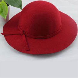 Wholesale-2015 new autumn and winter days bowler hat wool hat Nick elegant wide-brimmed hat lady