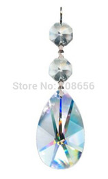 Wholesale 35pc Clear Diamond Hanging Crystal Garland Wedding Strand with Prism Pendant Accent Made with Magnificent Crystal