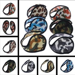 Wholesale New Ear Muffs Camouflage Backphones Warm Plush Earmuff Winter Cold Ear Cover Hats Caps Cycling Running Walking Accessories Ear Muffs