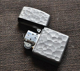 Wholesale Titanium TC4 Cigarette Armor Oil Lighter Shell case Protector Meteor Crater Surface Solid Material Sturdy Construction Waterprooof g