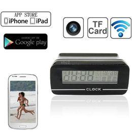 Clock IP Camera wireless WiFi camera 640*480 mini camcorders mini camera hidden camera DVR For Android IOS Phone Tablet Computer