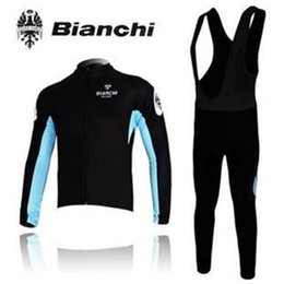 Wholesale 2015 Professional ropa ciclismo black BIANCHI cycling jerseys setwinter Warm Fleece Thermal bicicleta mountain bike maillot bike clothing