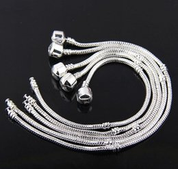 Wholesale Hot Snake Chain Antique silver Charm Bracelets Fit European Beads mm3
