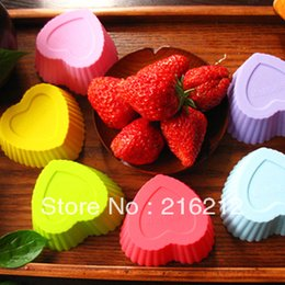 Wholesale 3 cm MINI Love Heart Shape MaFen Cup Silicone Muffin Cake Cupcake Cup Cake Mould Case Bakeware Maker Mold Tray Baking Jumbo