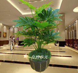 Wholesale Artificial tree small bonsai artificial plants bonsai pachira single pole lucky