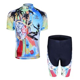 Wholesale New Men Cycling Bike Short Sleeve Clothing Bicycle Set Jersey Shorts Suit Trees