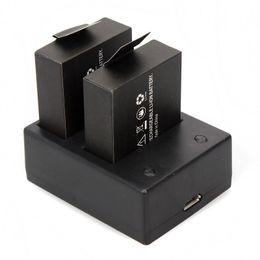 Wholesale Portable USB Dual Charger Battery For SJCAM SJ4000 Wifi SJ5000 Plus Camera