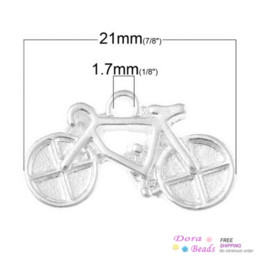 Wholesale Charm Pendants Bicycle Silver Plated mm x mm B33928 seasons pendant citrine pendant pushbutton pendant pushbutton