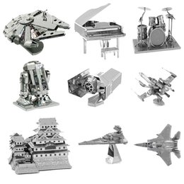 Wholesale PrettyBaby d metal laser cut assembly model d metallic nano puzzle toys star wars musical instrument d building puzzle Chirstmas gifts