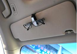 Al por mayor de la ingeniería en Línea-100pcs / lots de plástico ABS de ingeniería del coche Accesorios para el vehículo Visera de sol gafas de sol de los vidrios del ojo pluma de la tarjeta del clip del sostenedor