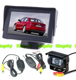 Wholesale 18 LED Night Vision Wireless CCD Reversing Camera quot LCD Monitor Screen Car Rear View Kit