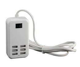 Wholesale Desktop Charge Adapter Port High Speed USB HUB AC Power Charger US EU Plug for Mobile Phone Tablet Computer