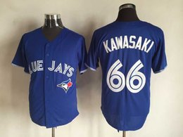 Promotion maillots de sport N ° 66 Kawasaki Blue Jays Baseball Jersey Blue Sports chandails brodés Baseball Maillots Hommes Baseball Shirts Toutes les équipes Outdoor Apparel Magasin