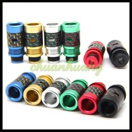 Wholesale Carbon Fiber Aluminum or Resin Drip Tip Mouthpiece Wide Bore Drip Tips Colorful ATC Driptips for RDA RBA RTA Atomizers tanks